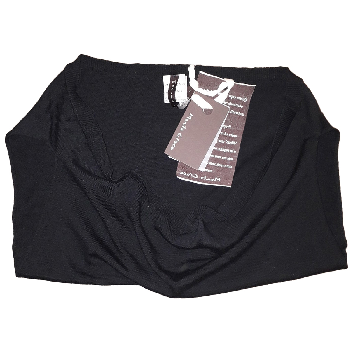 Non Signé / Unsigned \N Black Cotton  top for Women 1 0-5