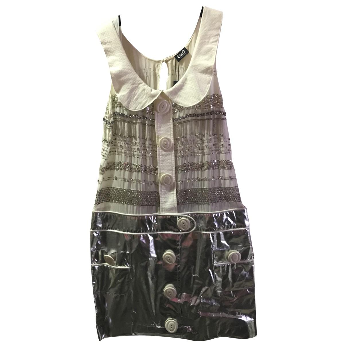 D&g \N Metallic Cotton dress for Women 42 IT