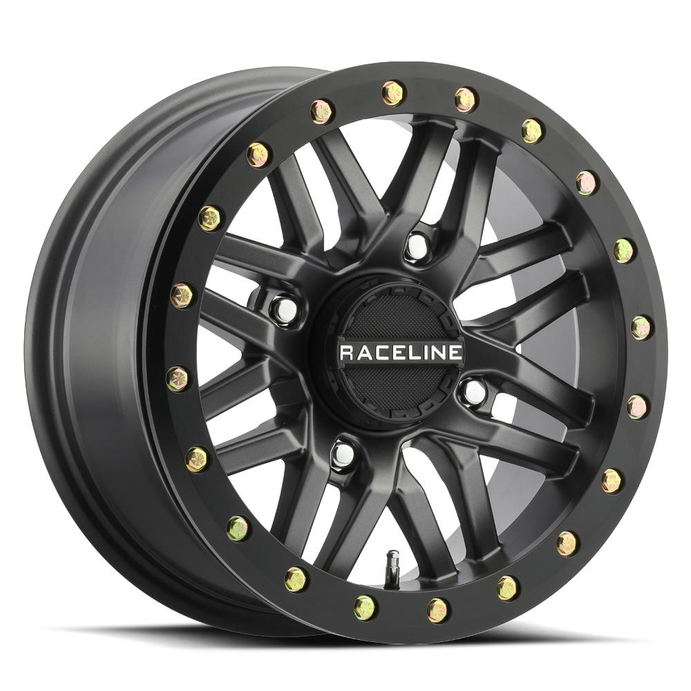 Raceline Wheels A91G-57011-52 Ryno Gun Metal W/Black Ring 15x7 4x110 (5+2)