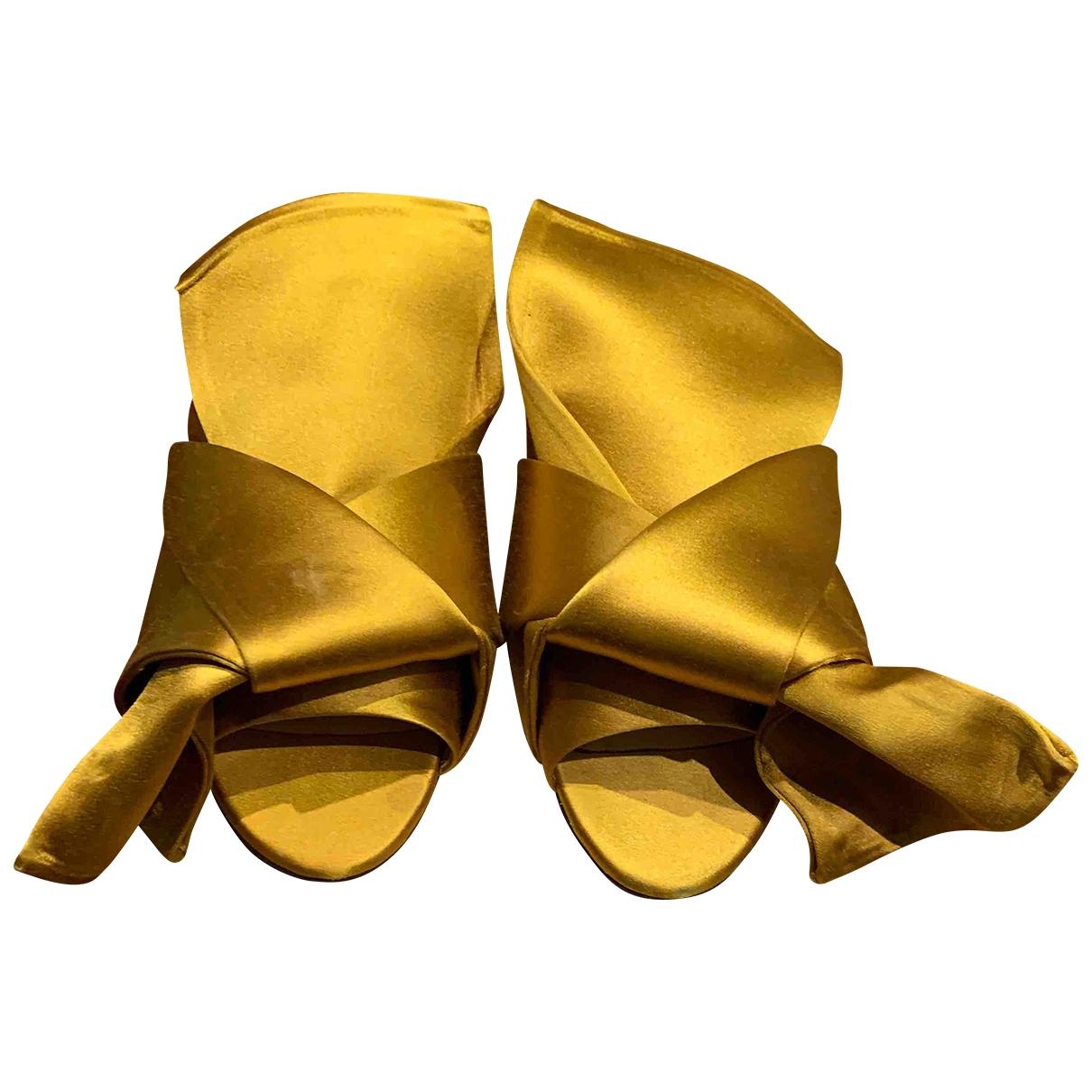 N°21 \N Sandalen in  Gelb Leinen