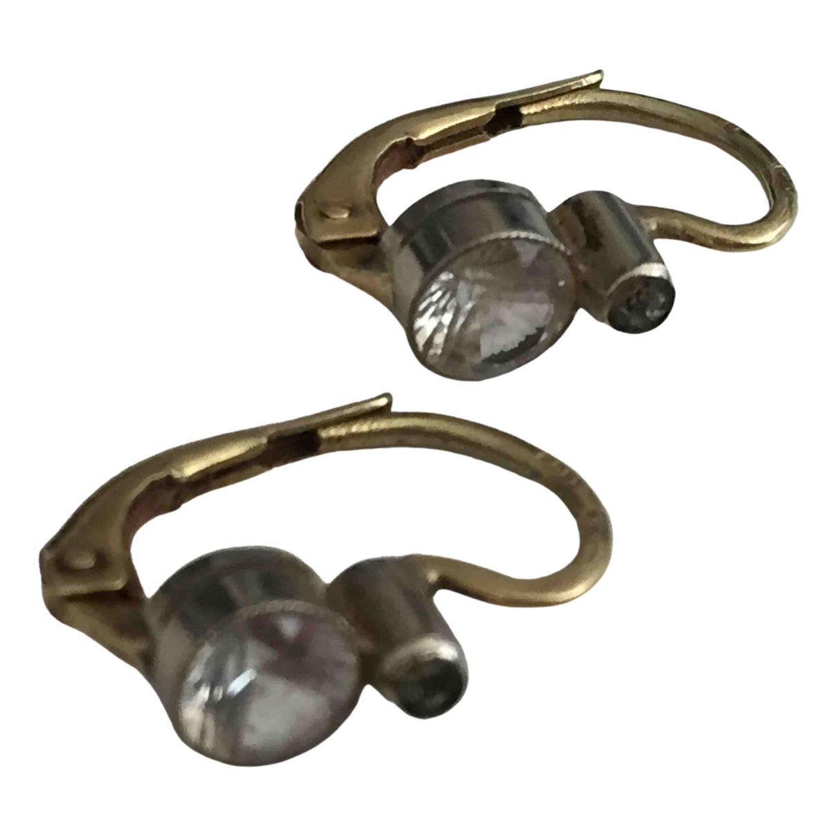 Non Signe / Unsigned Dormeuses OhrRing in  Silber Gelbgold