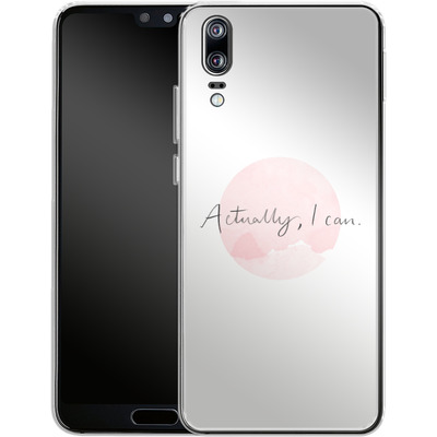 Huawei P20 Silikon Handyhuelle - Actually, I can von caseable Designs