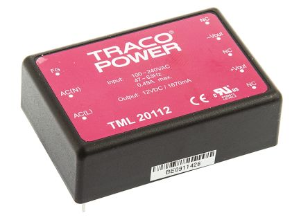 TRACOPOWER , 20W Embedded Switch Mode Power Supply SMPS, 12V dc, Encapsulated