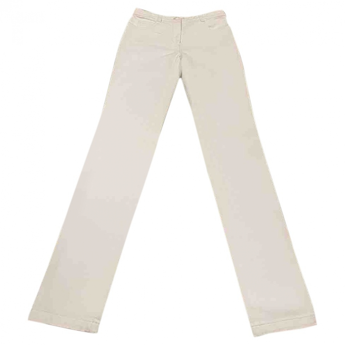 Chanel \N White Cotton Jeans for Women 34 FR