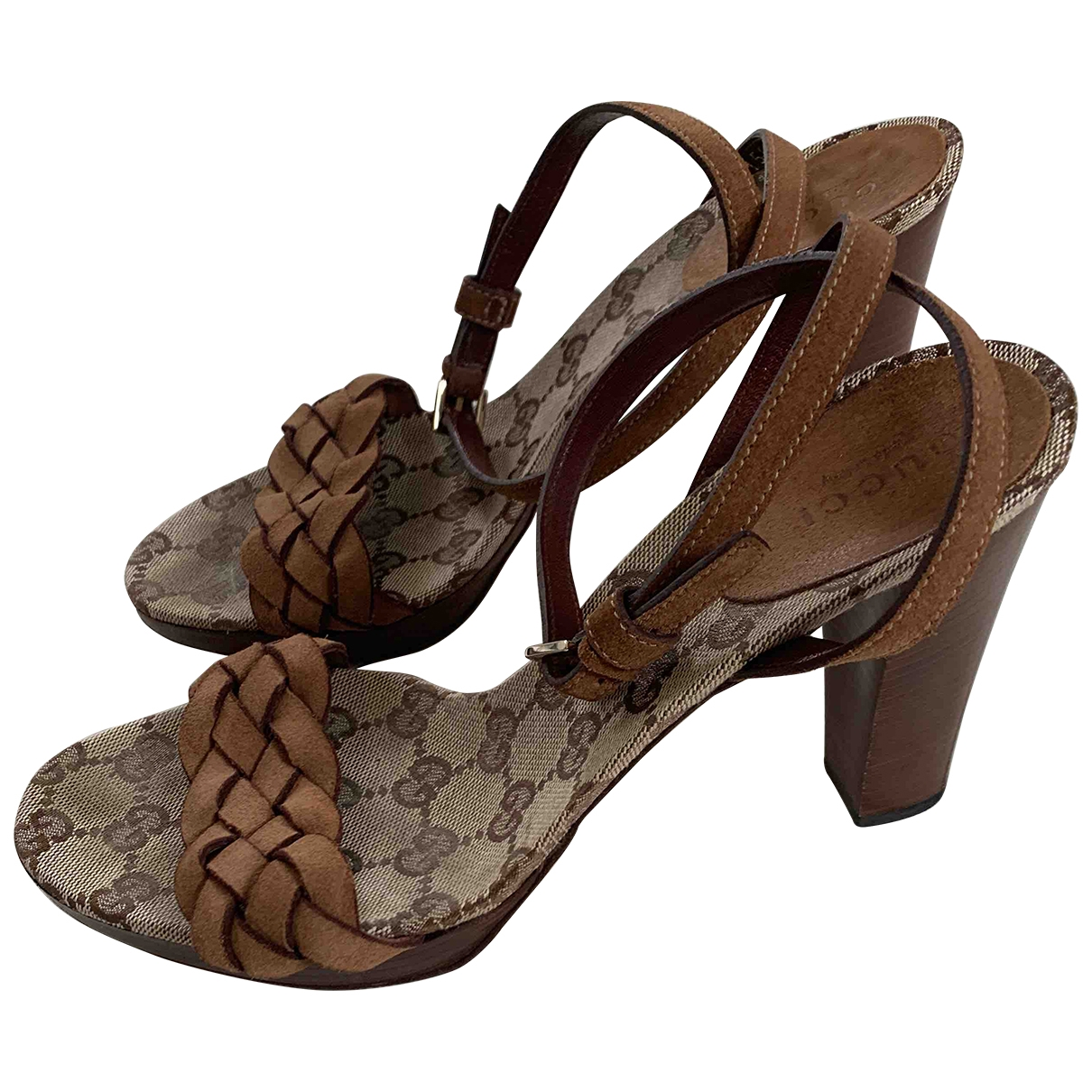 Gucci \N Brown Leather Sandals for Women 37 EU