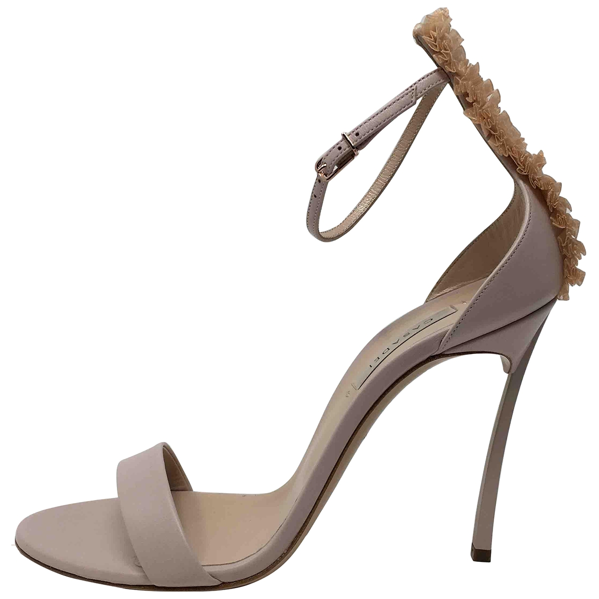 Casadei \N Pink Leather Sandals for Women 39 IT