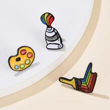 3pcs Painting Tools Design Brooch