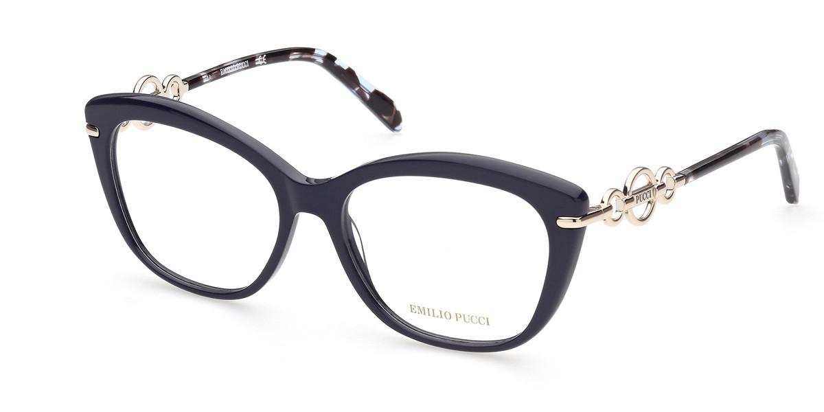 Emilio Pucci EP5163 090 Women's Glasses Black Size 55 - Free Lenses - HSA/FSA Insurance - Blue Light Block Available