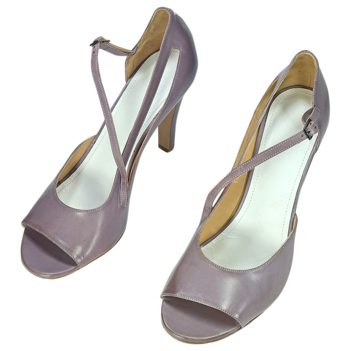 Maison Martin Margiela N Purple Leather Sandals for Women 40 EU