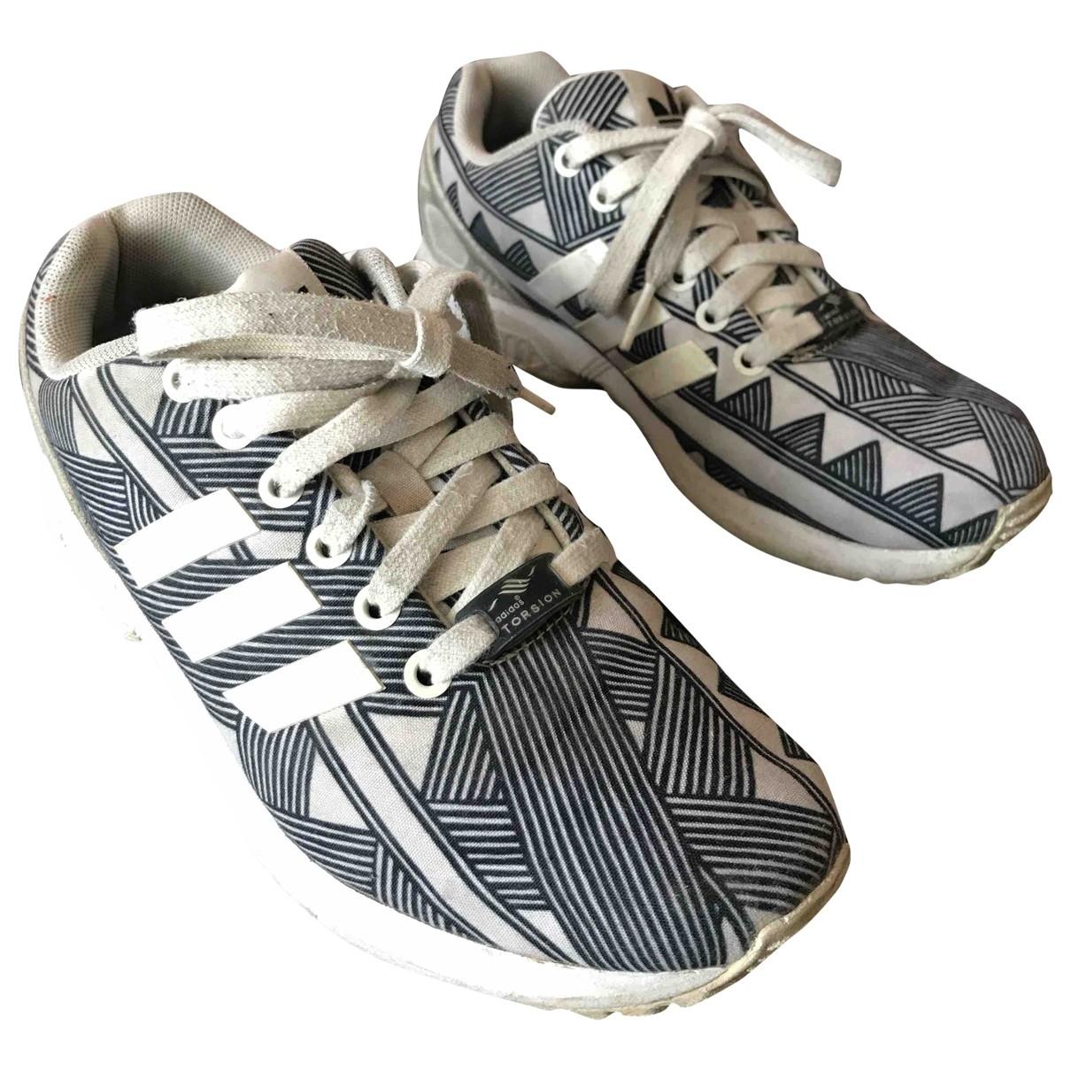 Adidas ZX Sneakers in  Bunt Veloursleder