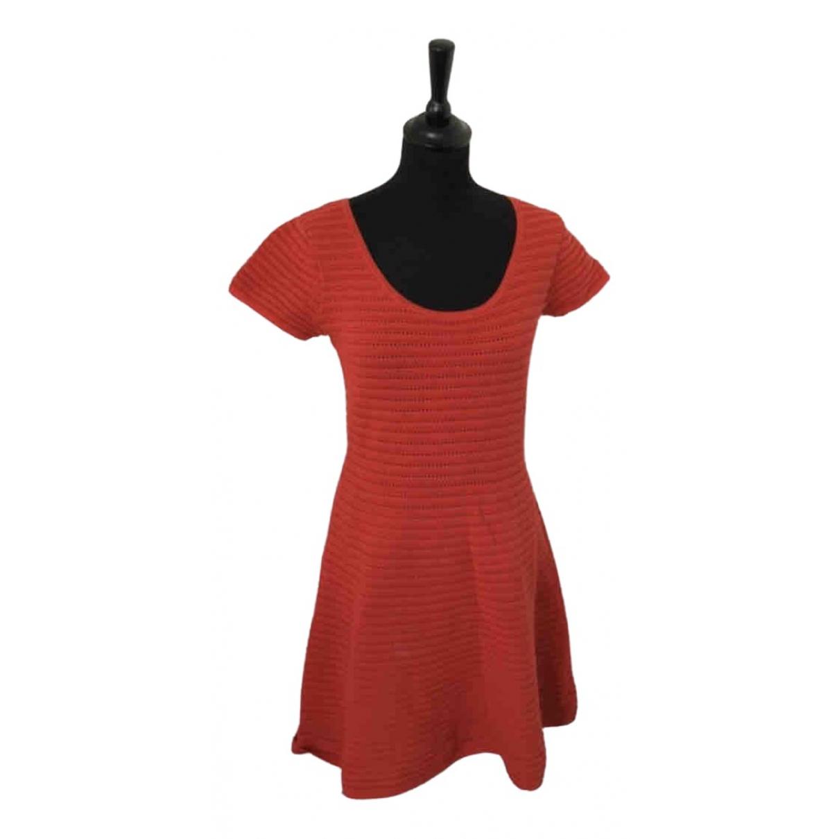 Sandro Spring Summer 2019 Red Cotton dress for Women 36 FR