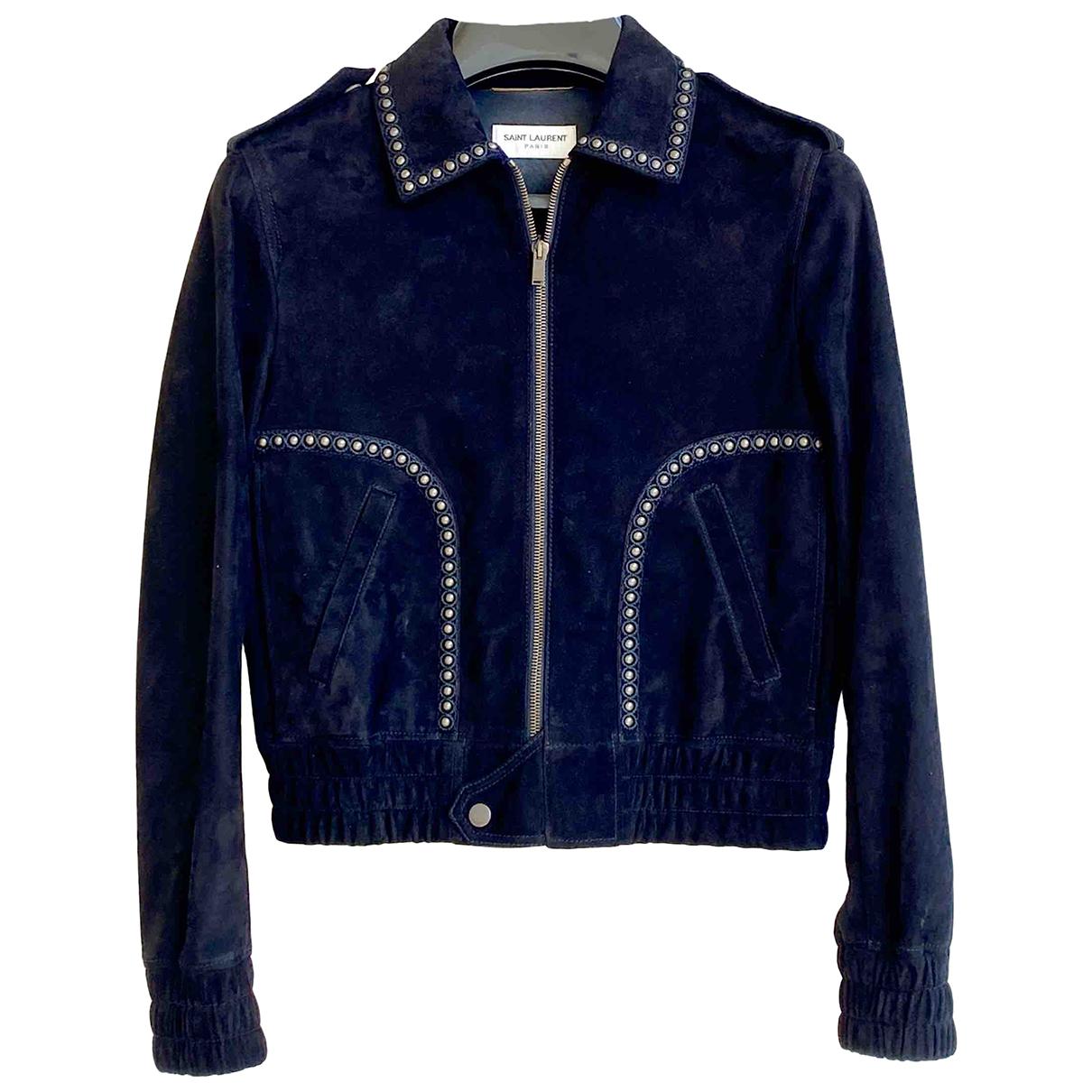 Saint Laurent \N Black Suede jacket for Women 36 FR