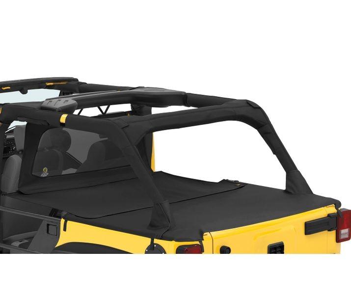 Bestop 90034-35 Black Diamond Duster Deck Cover Extension Jeep Wrangler 4-Door 2007-2018