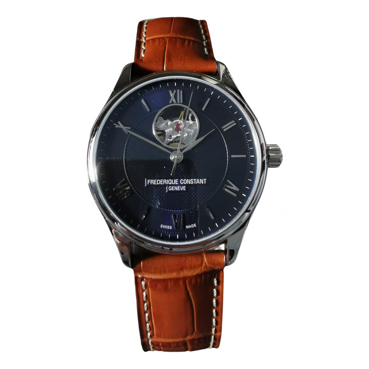 Frederique Constant Classic Index Automatique Uhr in  Blau Stahl