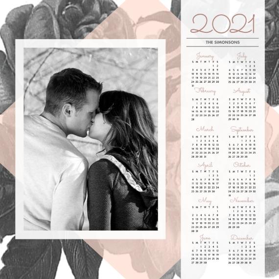 Calendar 12x12 Wood Panel, Home Décor -In Bloom