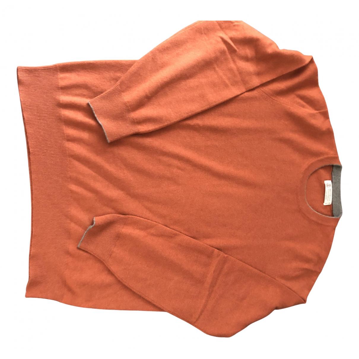 Brunello Cucinelli N Orange Cashmere Knitwear & Sweatshirts for Men 52 IT