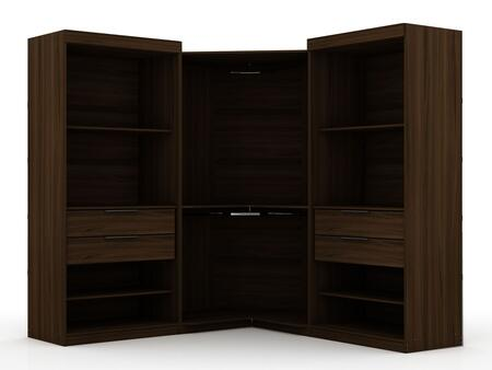 Mulberry Collection 111GMC5 Wardrobe/ Armoire/ Closet with 8 Adjustable Shelves  4 Drawers    Contemporary Modern Style  Medium-Density Fiberboard