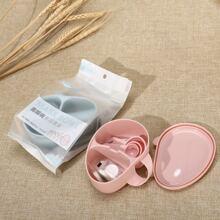Random 1set Mask Bowl Spoon Tool Set