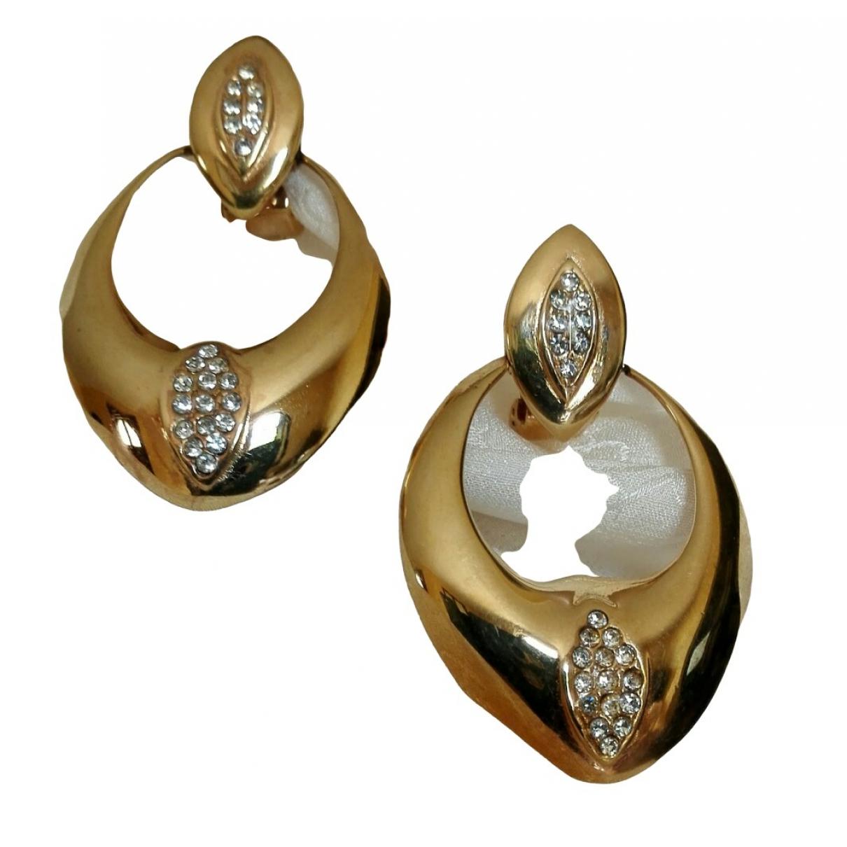 - Boucles d'oreilles   pour femme en acier - dore