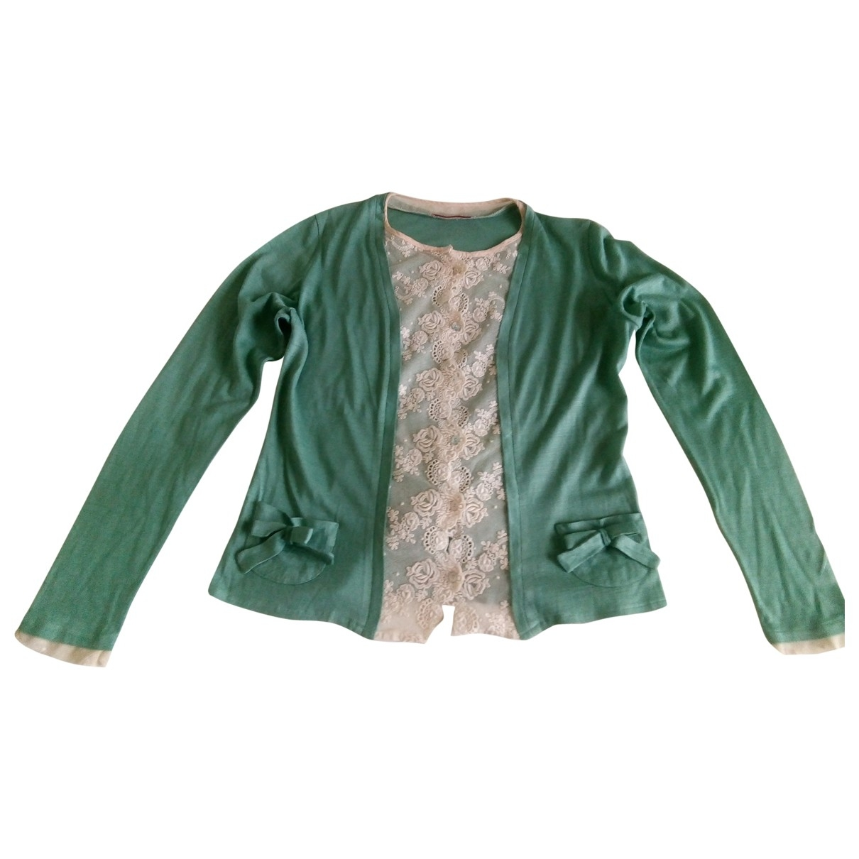 Maje \N Green Wool  top for Women 3 0-5