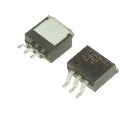 Texas Instruments , 5 V Linear Voltage Regulator, 1A, 1-Channel, ±2% 3-Pin, D2PAK LM340S-5.0/NOPB (5)