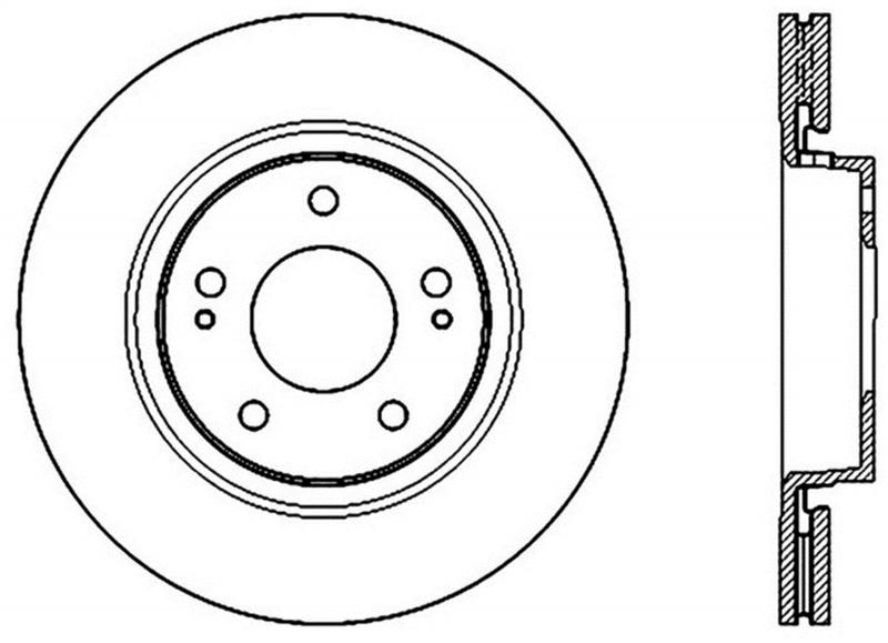 StopTech 127.46078R Sport Drilled/Slotted Brake Rotor; Front Right Mitsubishi Front Right 2.0L 4-Cyl