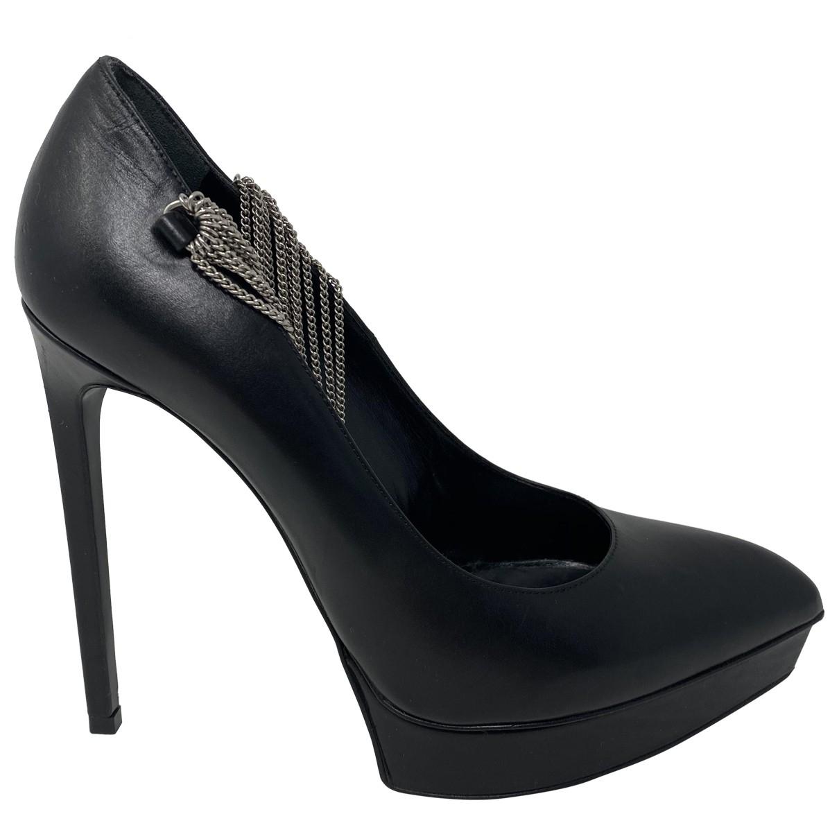 Saint Laurent - Escarpins   pour femme en cuir - noir