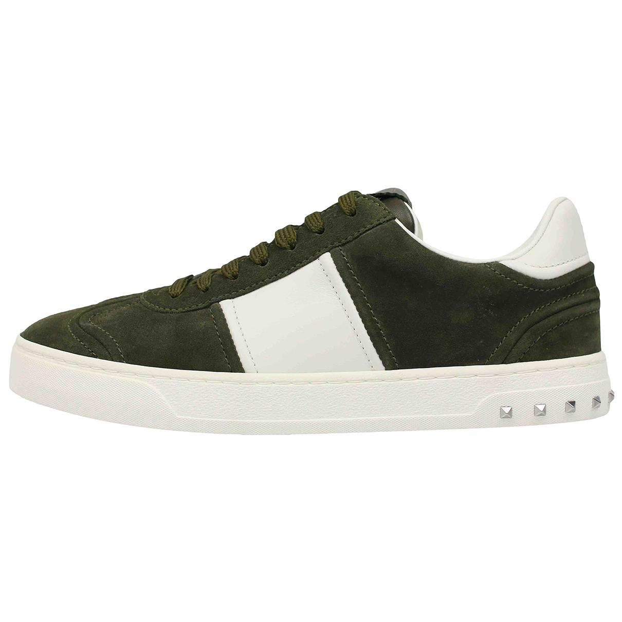 Valentino Garavani Rockrunner Sneakers in  Khaki Veloursleder