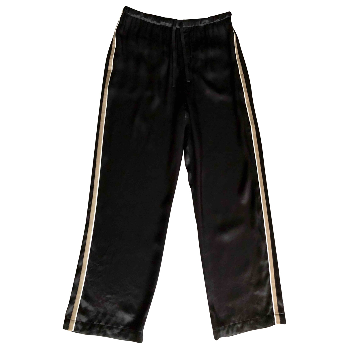 Pantalon en Viscosa Negro Brunello Cucinelli
