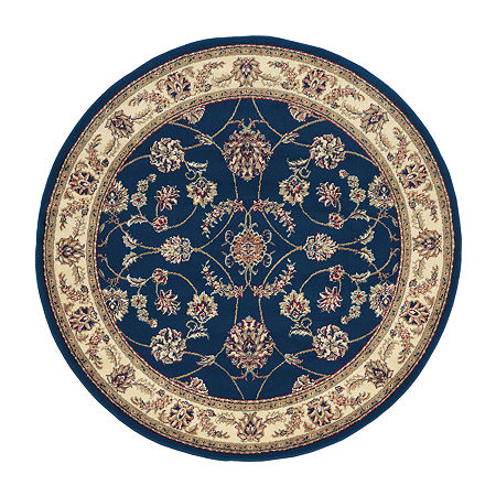 Como Intricate Traditional Oriental Area Rug, One Size , Blue