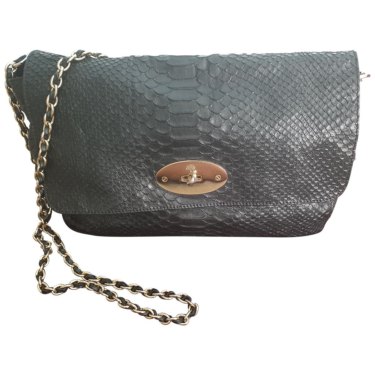 Mulberry \N Black Python handbag for Women \N