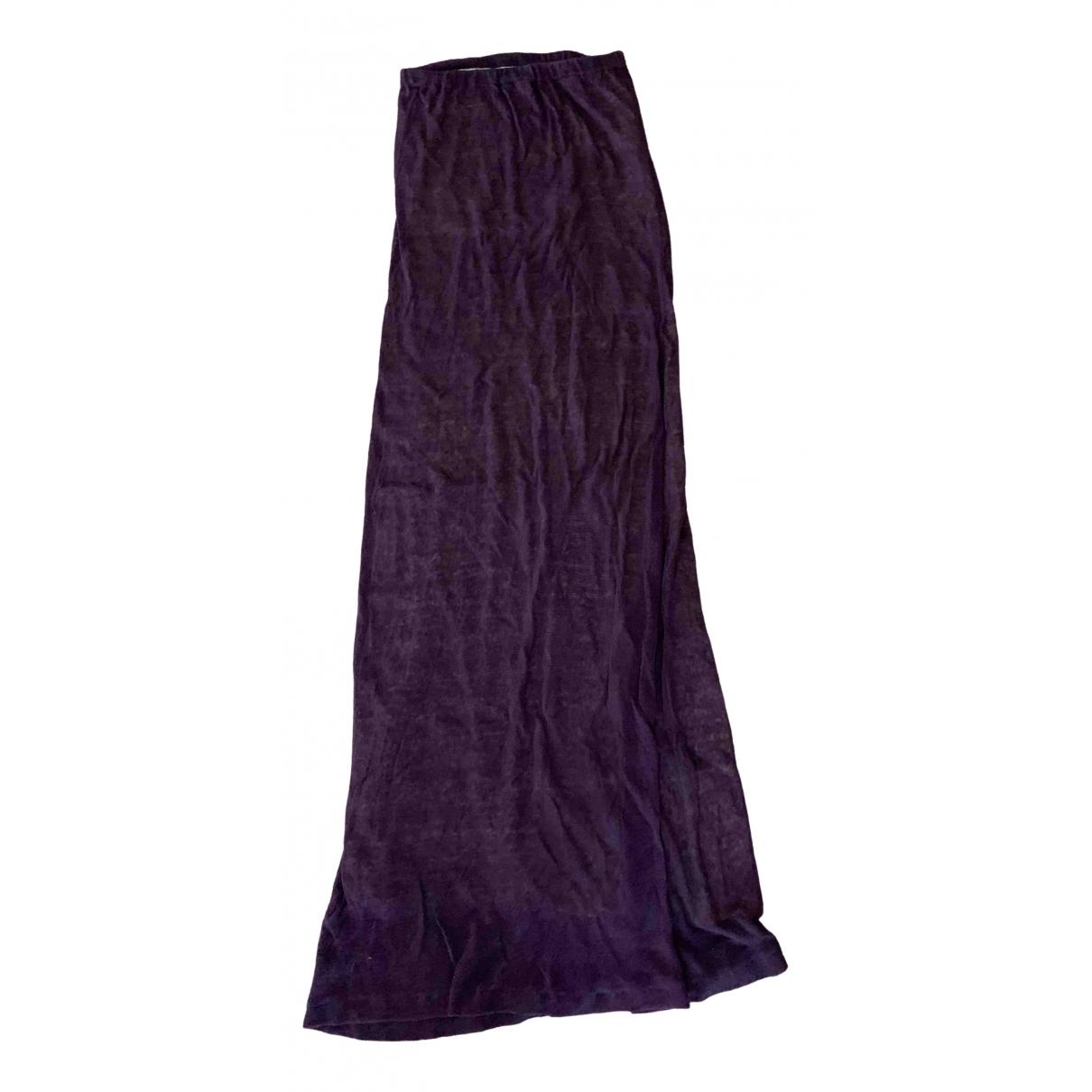 Stefanel - Robe   pour femme en lin - violet