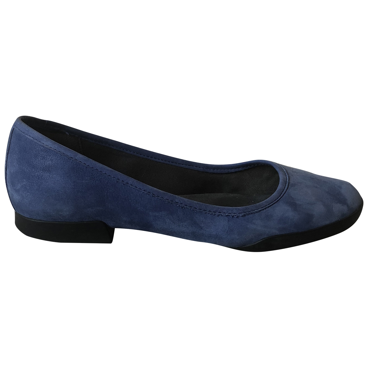 Camper \N Blue Suede Ballet flats for Women 38 EU
