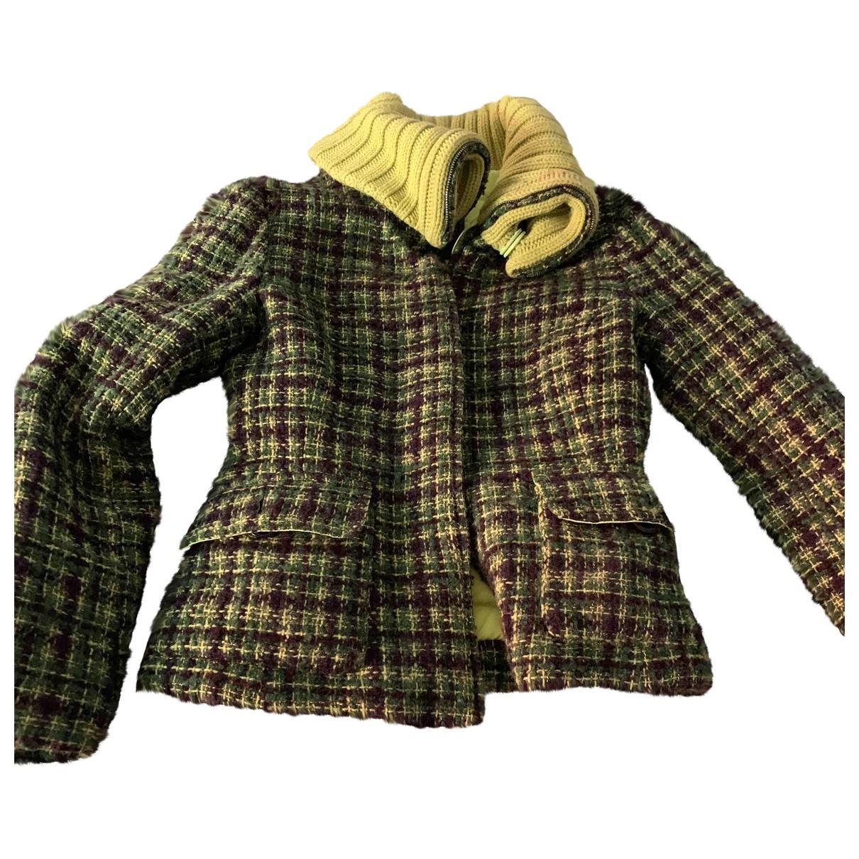 Moncler \N Maentel in  Gruen Wolle