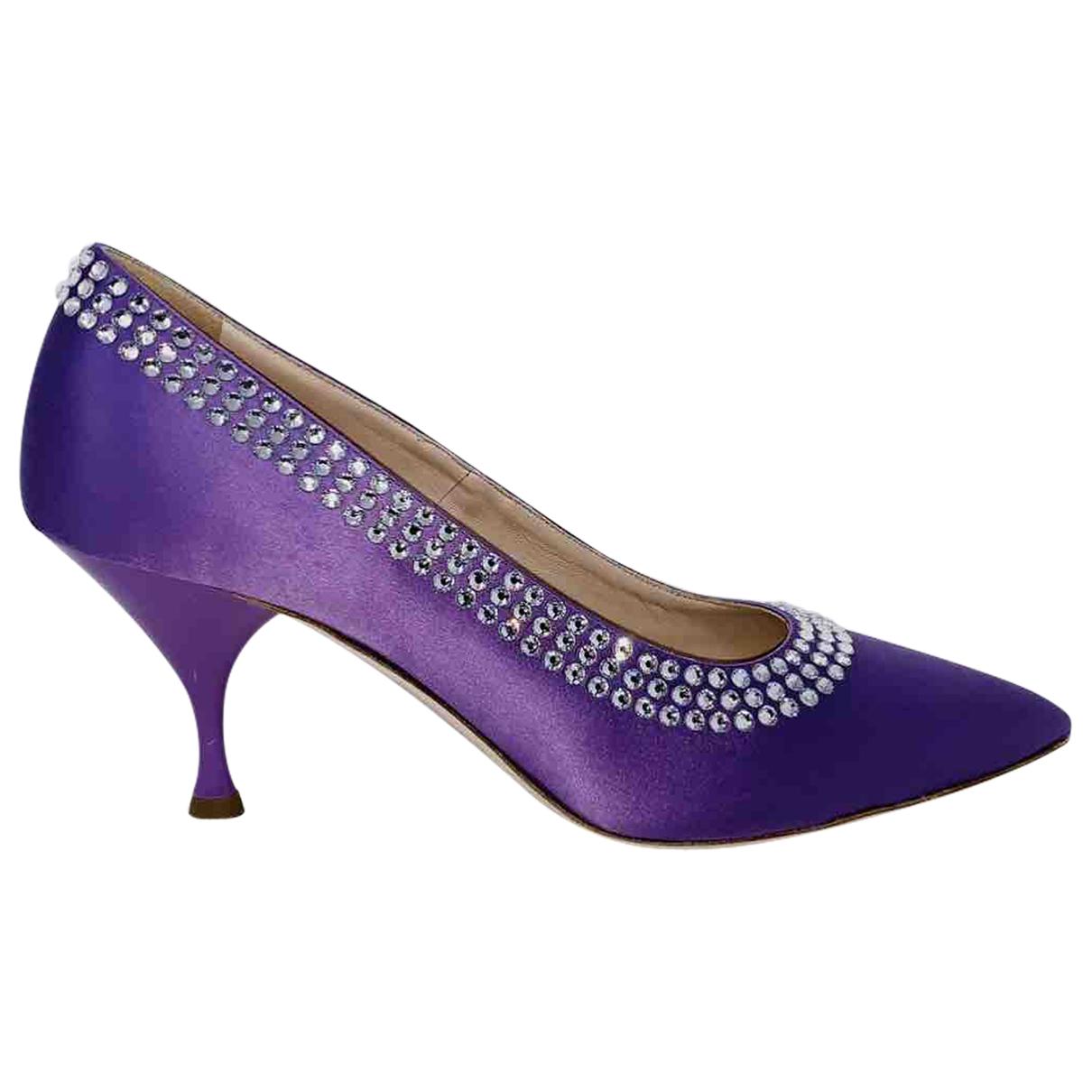 Miu Miu - Escarpins   pour femme en toile - violet
