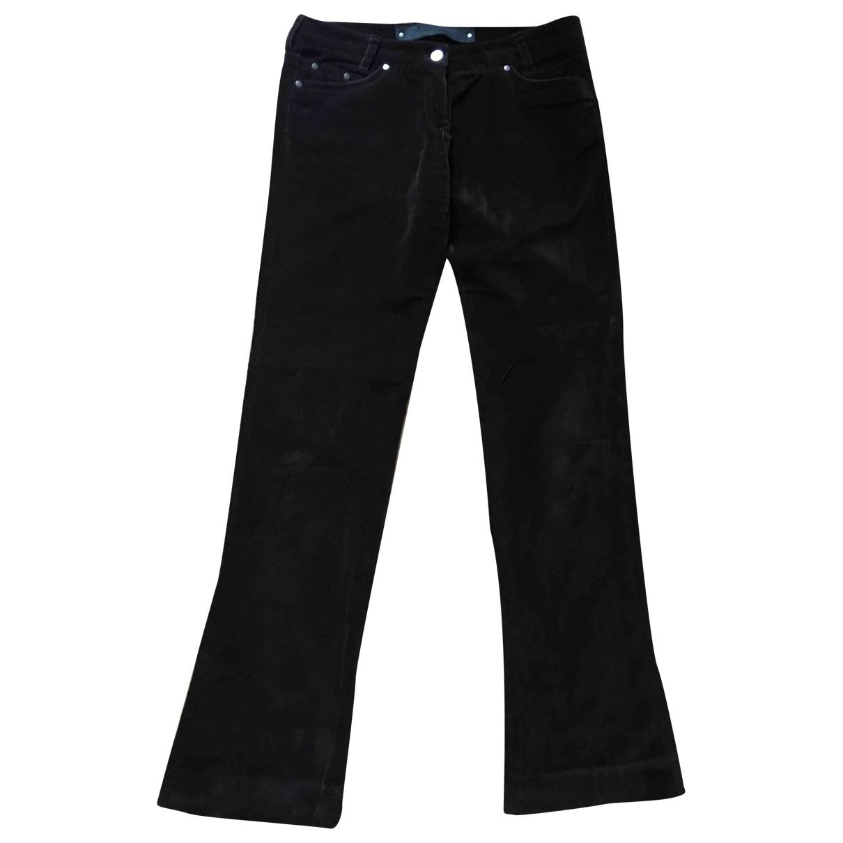 Barbara Bui \N Burgundy Velvet Trousers for Women 42 FR