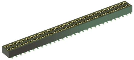 HARWIN 1.27mm Pitch 50 Way 2 Row Straight PCB Socket, Surface Mount, Solder Termination