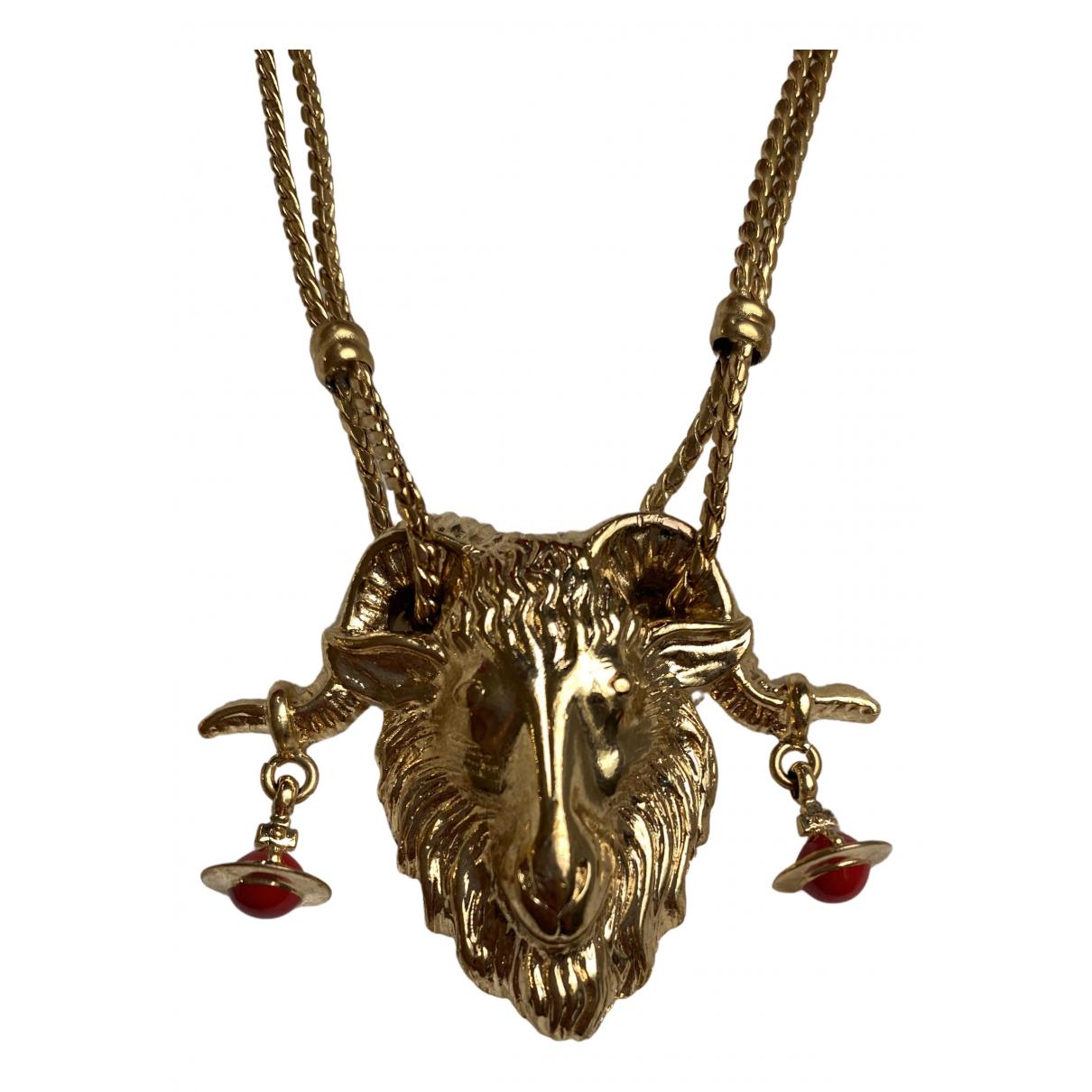 Vivienne Westwood - Collier   pour femme en metal - dore