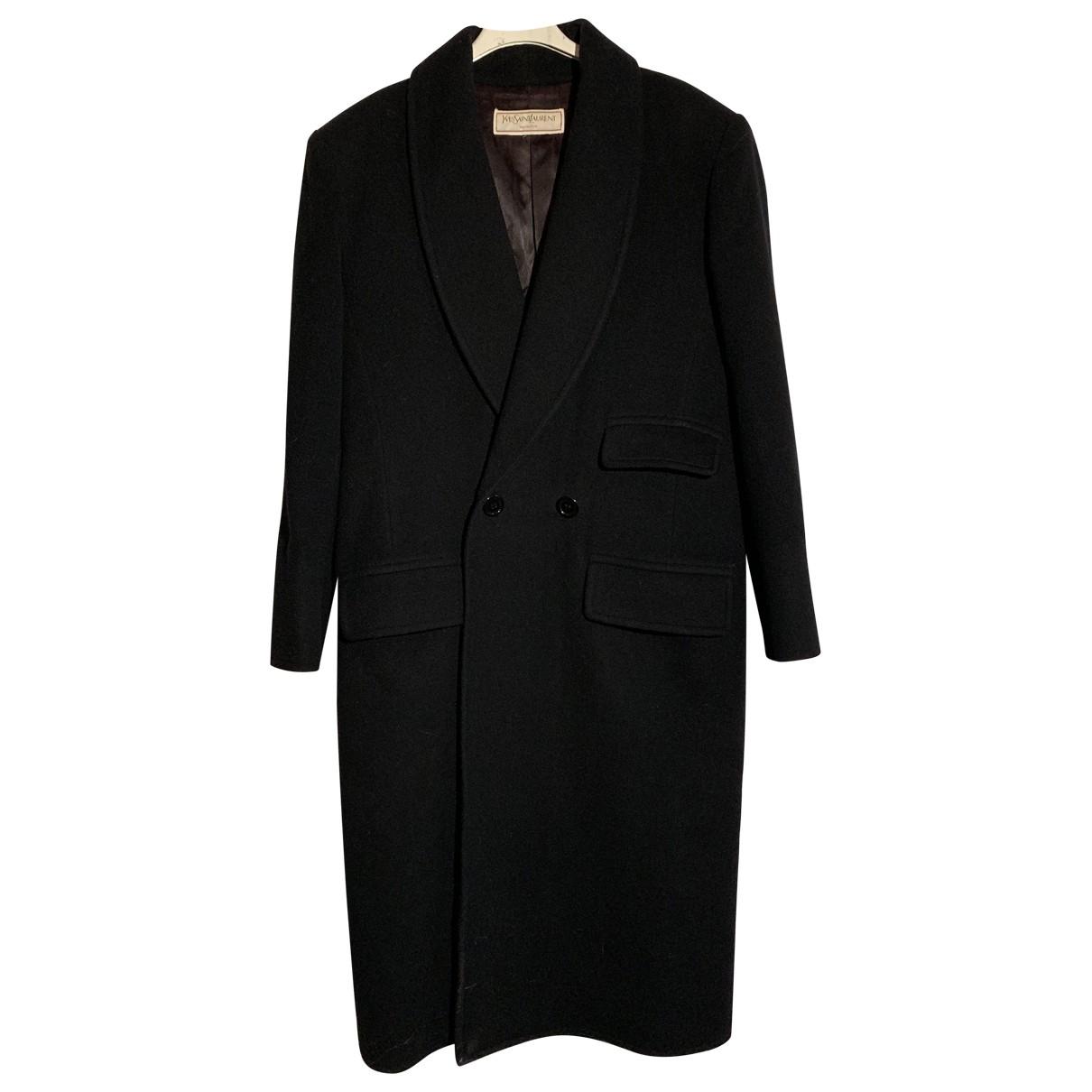 Yves Saint Laurent - Manteau   pour femme en laine - noir