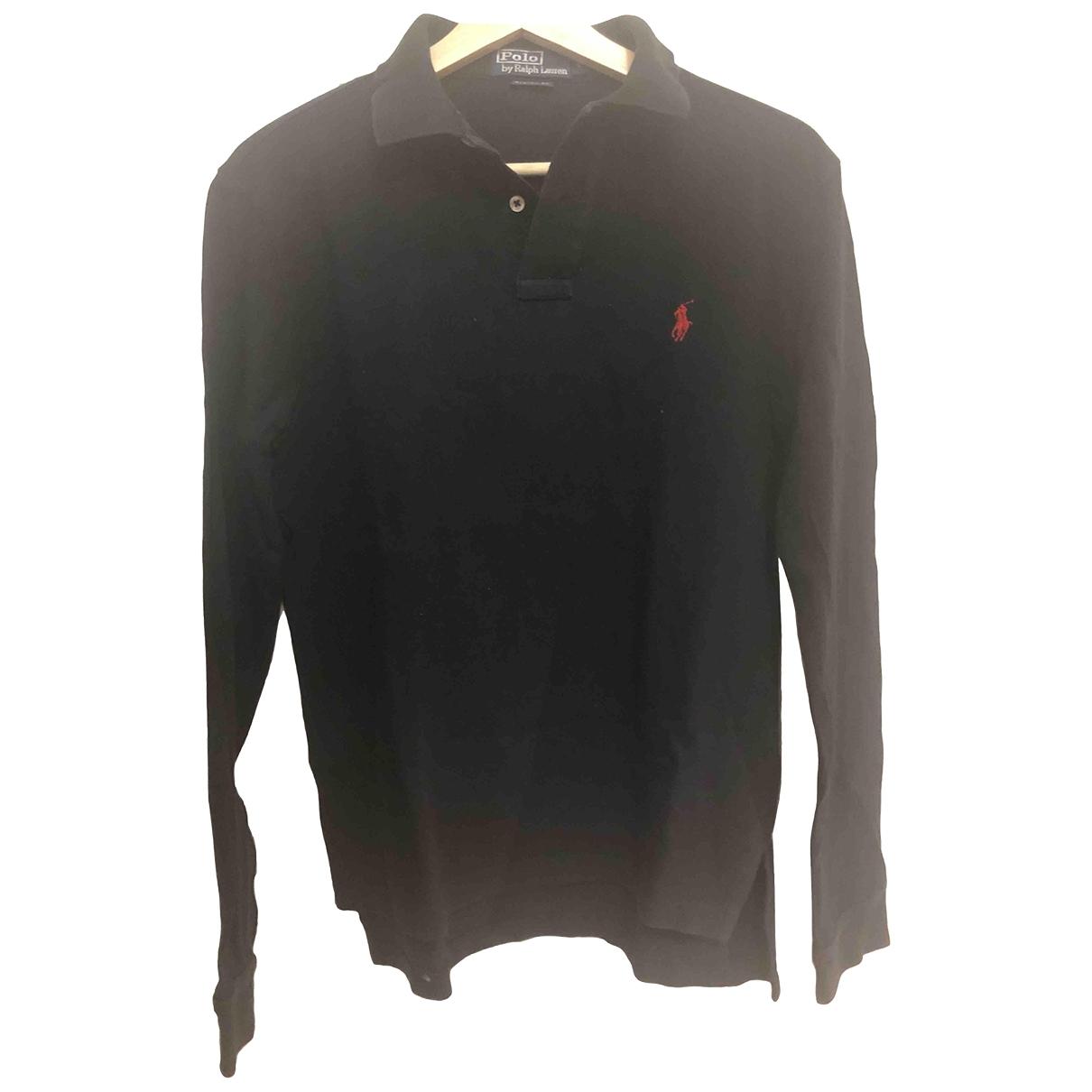 Polo Ralph Lauren - Polos Polo cintre manches longues pour homme en coton - noir
