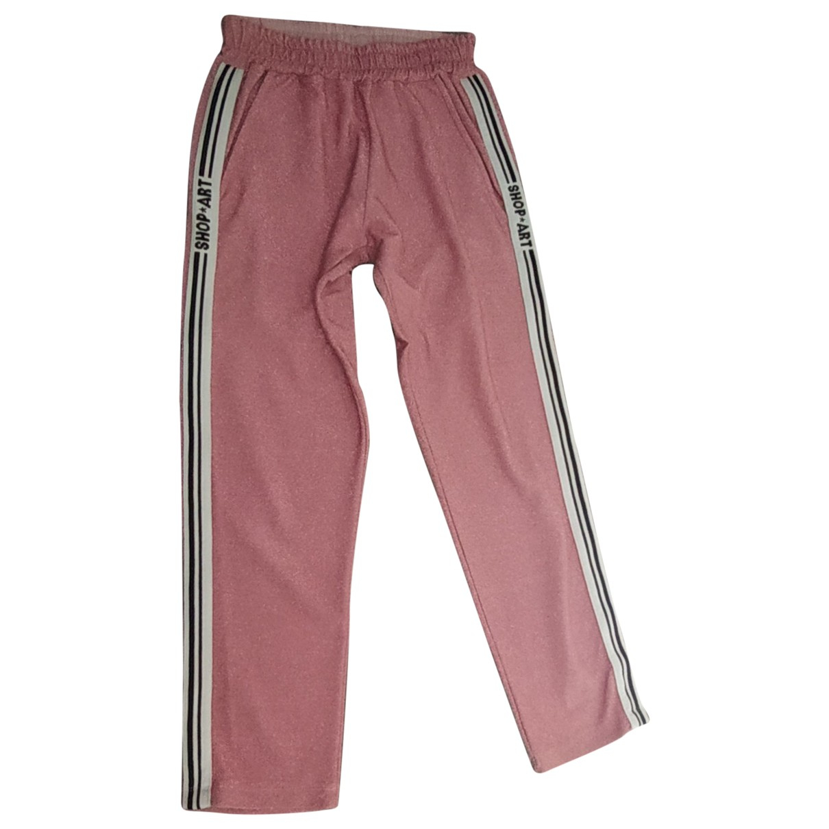 Non Signé / Unsigned \N Pink Cotton Trousers for Women 42 IT