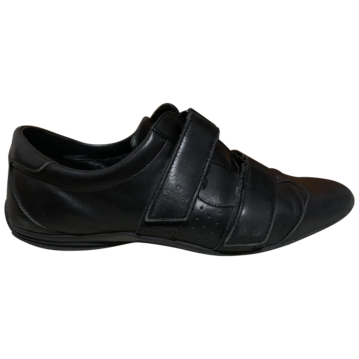 Gucci \N Black Leather Trainers for Women 39.5 EU