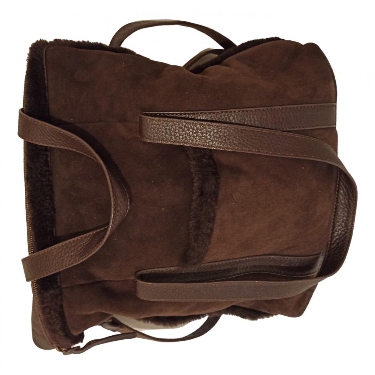 Hogan N Brown Suede handbag for Women N