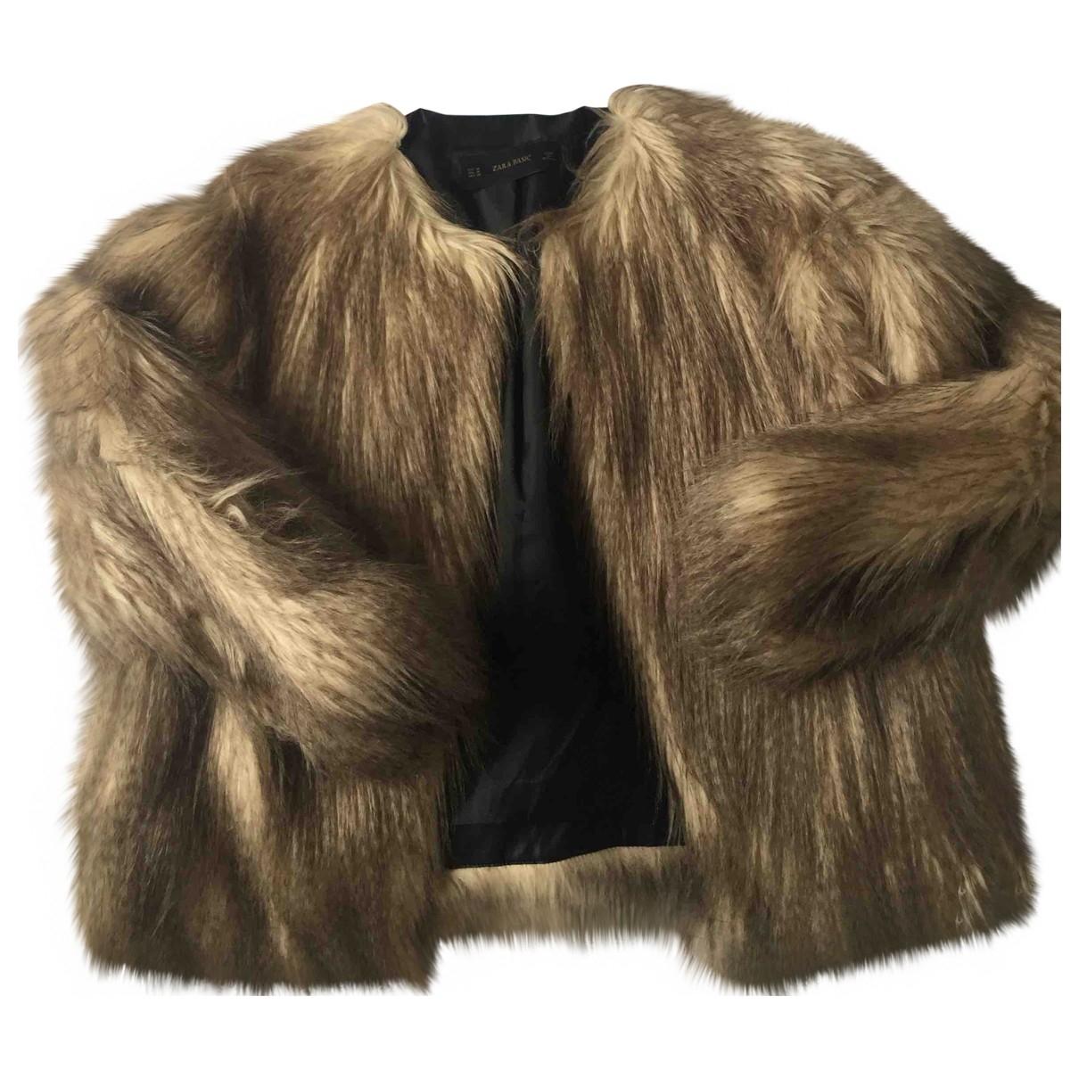 Zara \N Beige Faux fur coat for Women M International