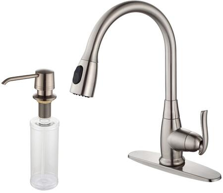 KPF2230KSD30SN Premier Series Pull Down Kitchen Faucet with Solid Brass Construction   Easy-Clean Rubber Nozzles  Kerox Ceramic Cartridge  and