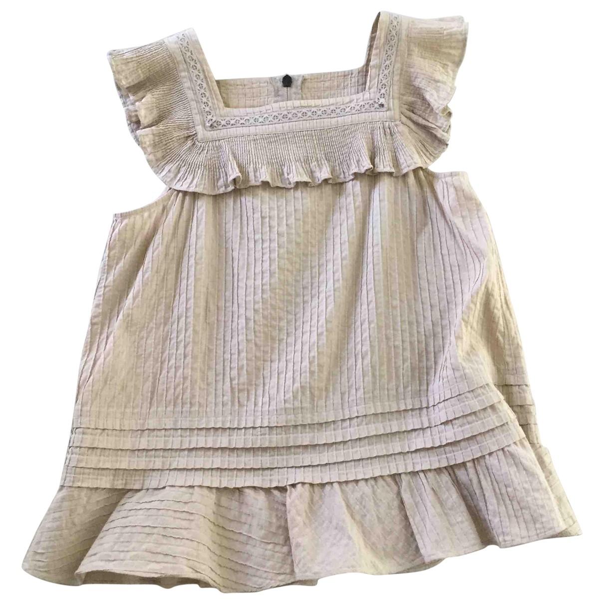 See By Chloe - Top   pour femme en coton - beige