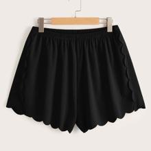 Grosse Grossen - Shorts mit Bogenkante und elastischer Taille