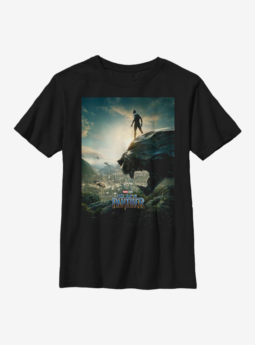 Marvel Black Panther Poster Art Youth T-Shirt