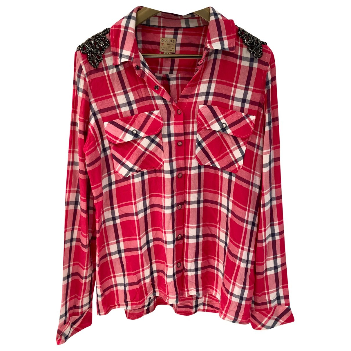 Guess N Red Cotton  top for Women 44 IT