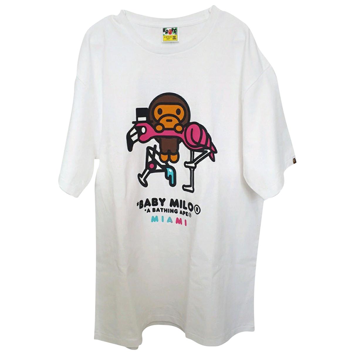 A Bathing Ape N White Cotton T-shirts for Men XXL International